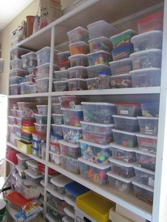 The process of setting up the preschool classroom   Teach Preschool This behind the scenes look at how Deborah stores her supplies always makes me green with envy!