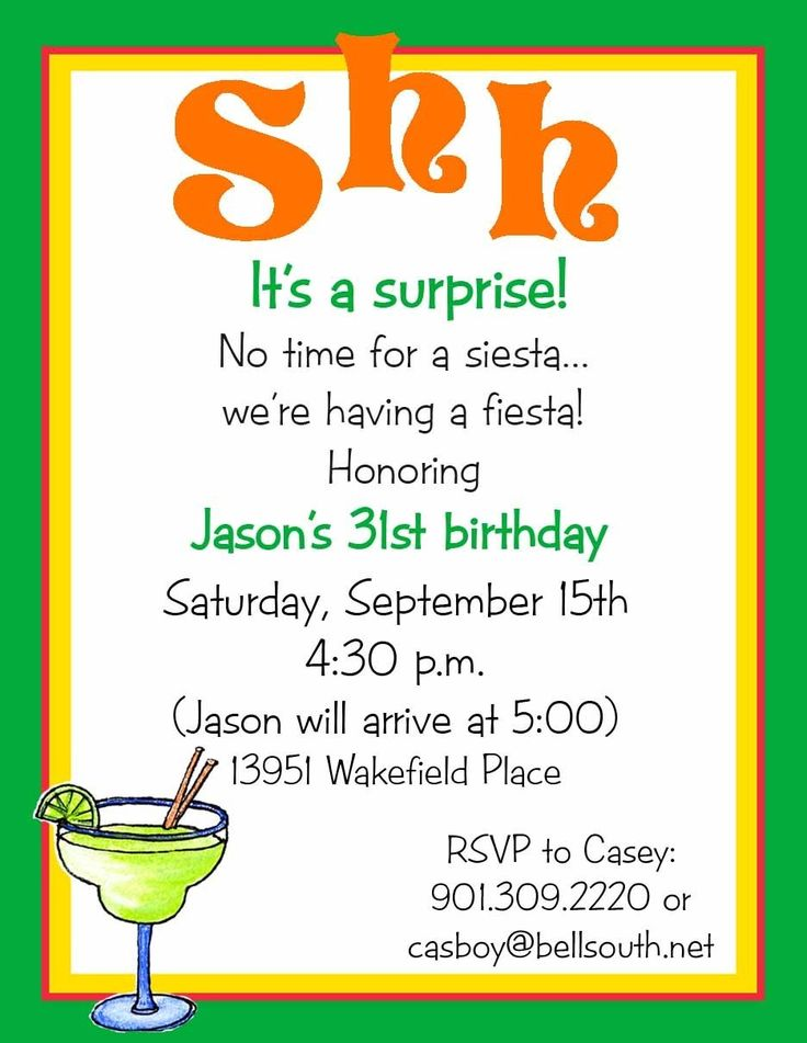 17 Best images about Party Invitation Wording – Surprise Party Invite Wording