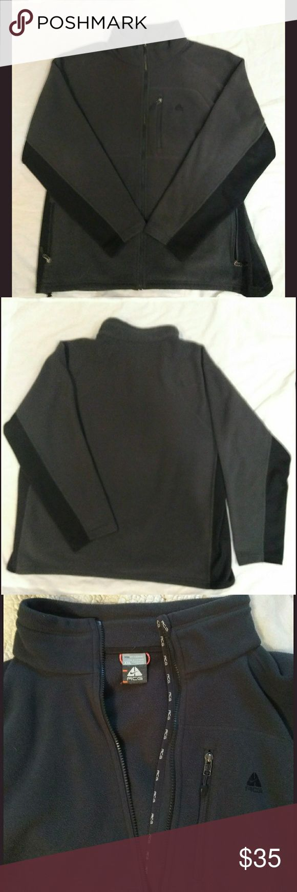 XXL Nike ACG jacket Dark gray and black full zip Nike Jacket, in excellent condition! Nike ACG Jackets & Coats Performance Jackets