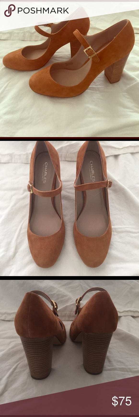 NEW Charles by Charles David camel suede heel brand-new, beautiful Charles by Charles David suede heels. The color is a gorgeous camel! Heel is 3 1/2 in tall. Retail for over $115!!! Charles David Shoes Heels