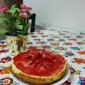 Tarta de fresas con galletas María