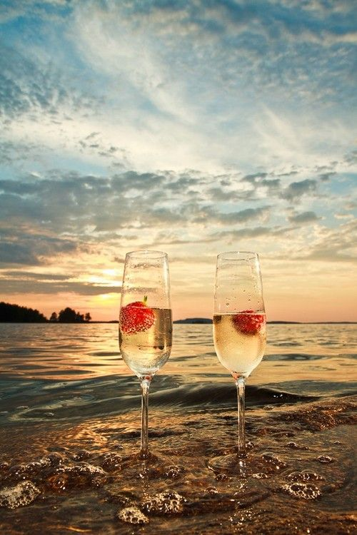 Champagne on the beach with that special person !