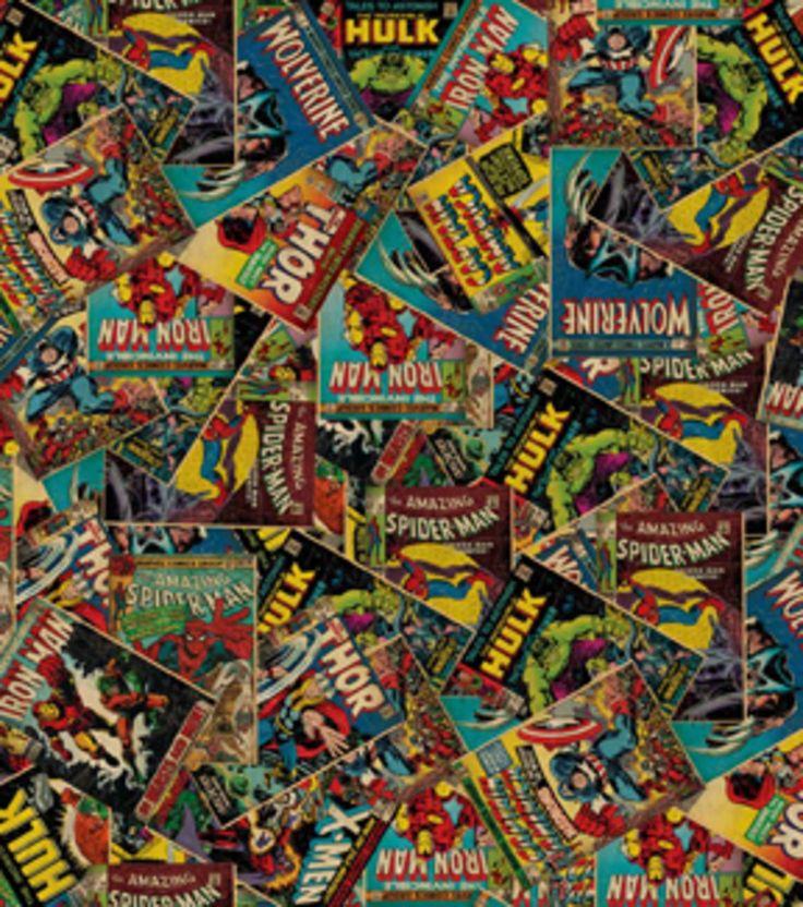 Marvel Retro Comic Cotton Fabric Fabrics South Korea