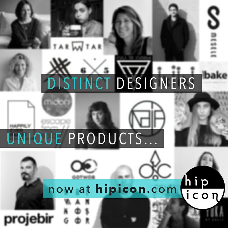 Discover the unique designers and products at hipicon.com