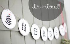 Kostenloser Download: DIY Herbstgirlande zum Ausdrucken