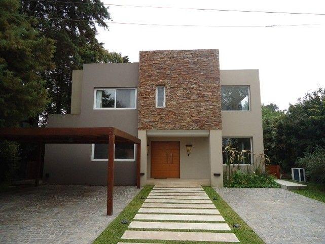 Fachada con garaje abierto fachadas de casas pinterest for Fachadas de garajes