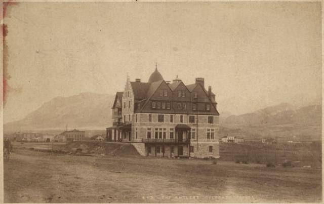 old antlers hotel from cascade av colorado springs. Black Bedroom Furniture Sets. Home Design Ideas