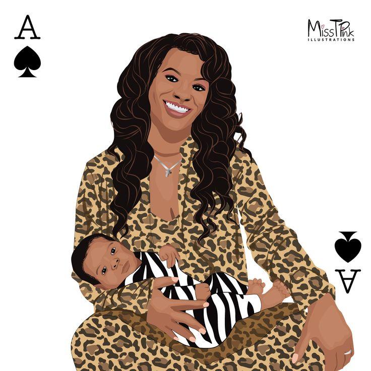 Illustration finally complete. Kand Burruss & Ace Wells Tucker all dressed up in leopard & zebra print