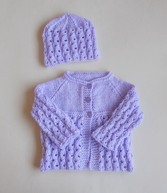 Ravelry: Lilac Blossom Baby Cardigan Jacket pattern by marianna mel