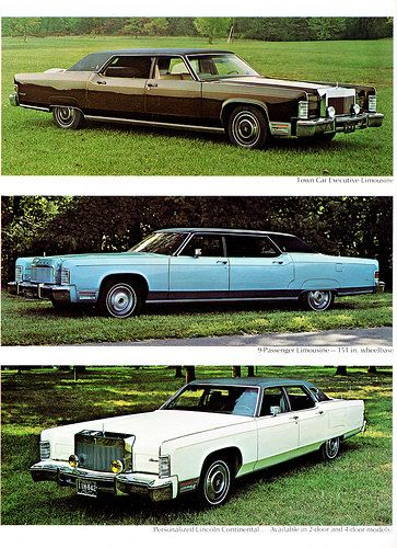 1974 Lincoln Continental Limousines
