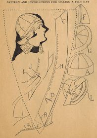 The Midvale Cottage Post: Home Sewing Tips from the 1920s - Sewing a Calot-Style Felt Hat