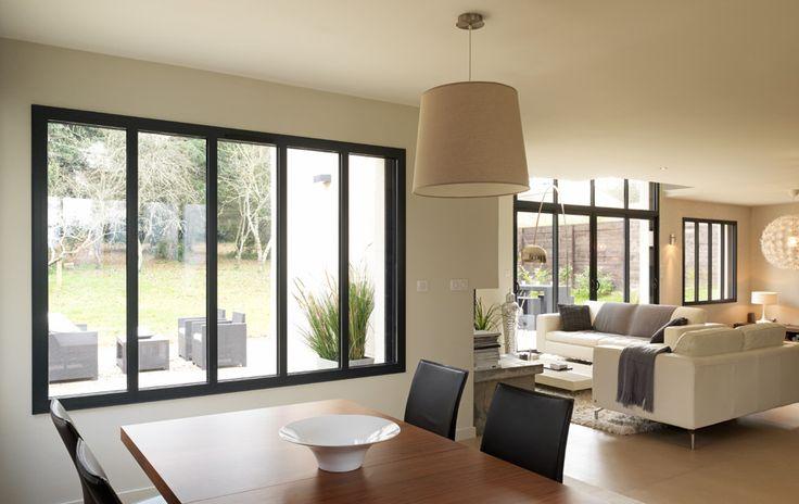 Ensemble composé: fenetre, baie vitree aluminium - K•LINE, Createur de fenêtres