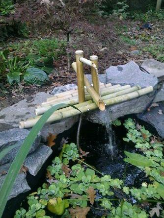 DIY Bamboo Water Fountain >> http://blog.diynetwork.com/maderemade/2015/07/20/7-gorgeous-water-features-to-cool-off-your-outdoors/?soc=pinterest