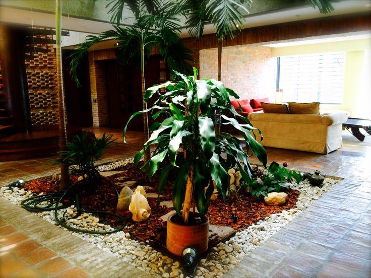 Jardín interno en PH Duplex en Los Samanes