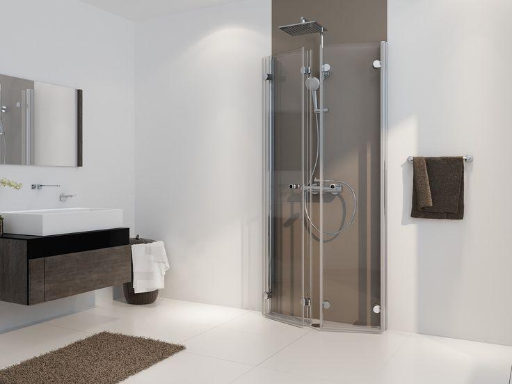 Dusche Freistehende Wand : Drehfaltt?r Duschkabine U-Form ab 70 x 70 x 220 cm Echtglas ESG klar
