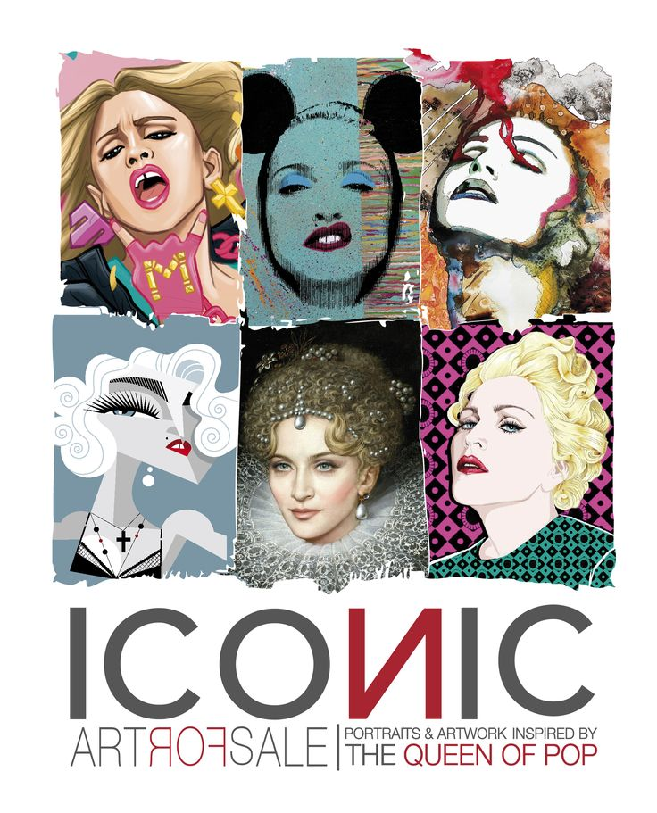 "ICONIC - Portraits & Artwork inspired by The Queen of Pop A project by Gabriele Ferrarotti, Ettore Ventura and Michele Sacco Online the catalogue of all exhibited artwork (in single or limited edition pieces) of the ICONIC exhibition, an iconografic tour through the art created by MADONNA's fans in honor of the only Italian performances of the ""Rebel Heart Tour"". information contact: Gabriele Ferrarotti: gabriele.ferrarot... Ettore Ventura: ettorevent69@gmail.com"
