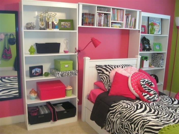 Room Girls Bedroom Girls Room Lime Green Pink Bedrooms Zebra
