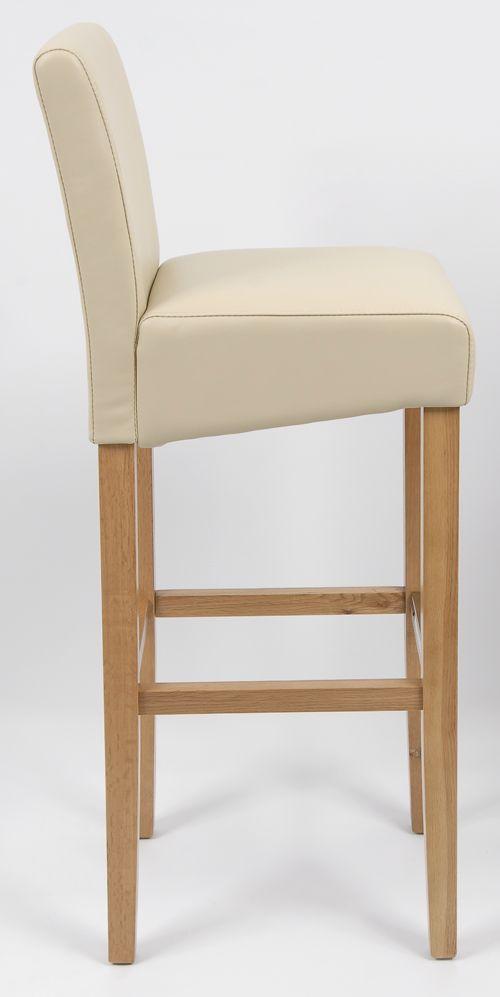 Solid Oak Bar Stool Bar Chair 5449 (Creme) | eBay