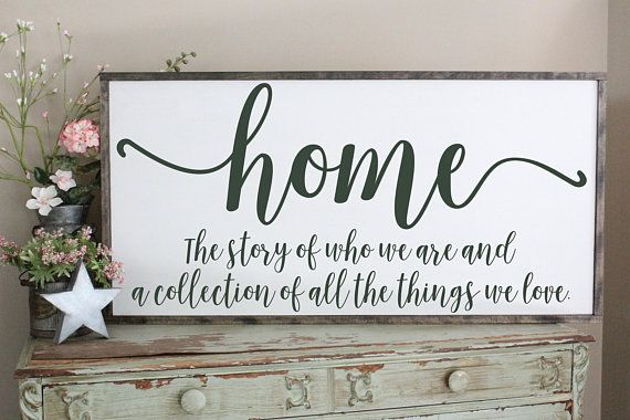 Home Is The Story Of Who We Are Wood Sign Welcome Home Wall Art Farmhouse Decor Wood Sign Saying Large Wood Sign Living Room Sign Wood Signs Wood Signs Sayings Home