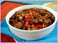 4 PP*  EZ as 1-2-3-Alarm Turkey Chili - Crockpot    PER SERVING (1/12th of recipe, about 1 cup): 176 calories, 3g fat, 765mg sodium, 23g carbs, 5.5g fiber, 6g sugars, 13g protein -- PointsPlus® value 4*    Prep:  20 minutes    Cook:  3 - 4 hours (high) or 7 - 8 hours (low)