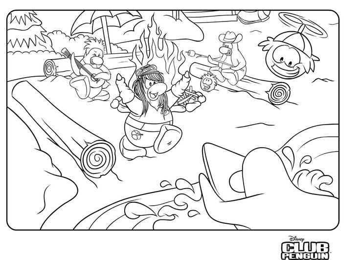 httpcoloringscoclub penguin coloring pages - Club Penguin Coloring Pages Ninja