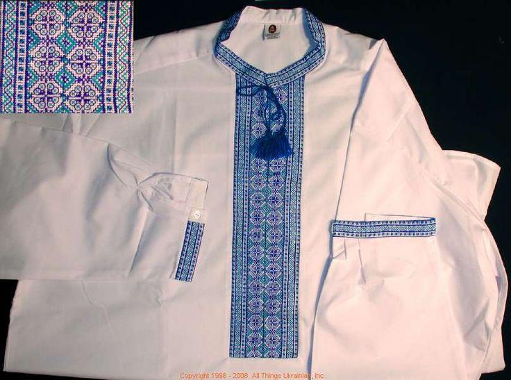 Men's Tops - Vogue Embroidery Long Sleeve Shirt Black / White - TJ759047
