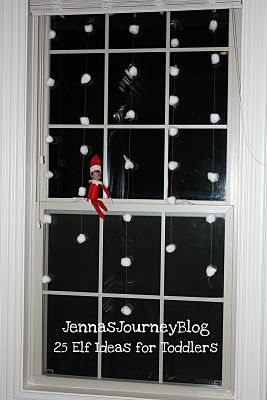 25 Elf on the Shelf Ideas for TODDLERS! | via Jenna's Journey