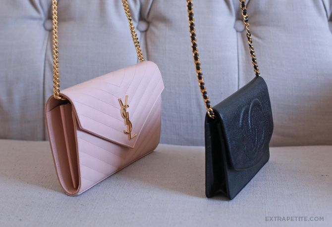 ExtraPetite.com - Bag review: YSL Saint Laurent wallet on chain ...