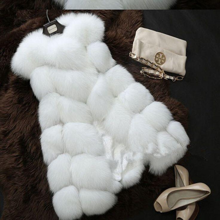 Купить товар2016 Зимняя Мода Женщины Импорт Пальто Меховой Жилет Высокого Класса Искусственный белый Мех Пальто Лисий Мех Длинный Жилет Плюс размер: S XXXL в категории Мех натуральный и искусственныйна AliExpress. 1, размер может быть 2 см/1 дюймов inaccurancy dut в связи с рук меры; цвет может быть немного различные должными к м