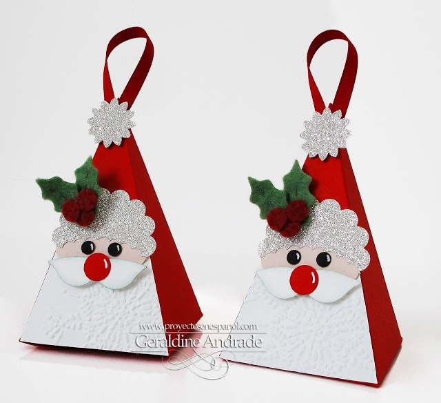 Stampin' Up! Christmas  by Geraldine Andrade at Mafer's Creations: SANTA BOXES
