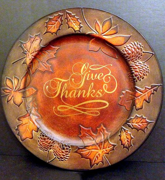 Decorative Thanksgiving Charger Plate & how to decorate a charger plate | My Web Value