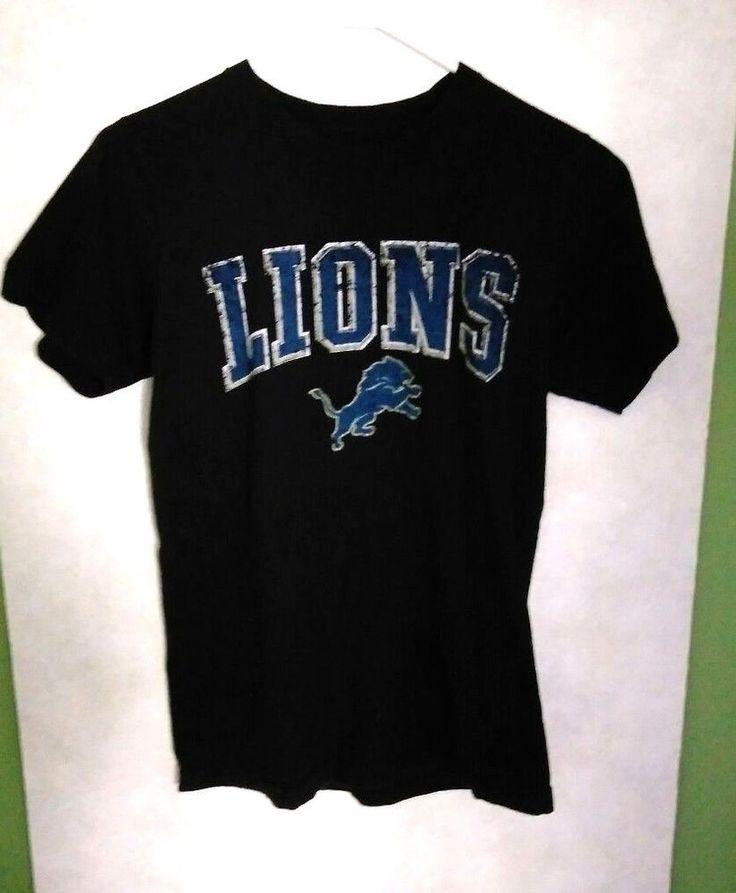 NFL Detroit Lions Calvin Johnson #81 Black T-Shirt Size Small-soft-100% cotton #NFL #DetroitLions