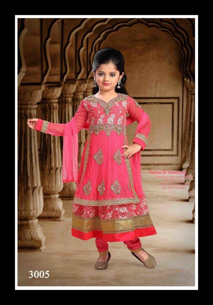 Kids orange salwar kameez design for girls