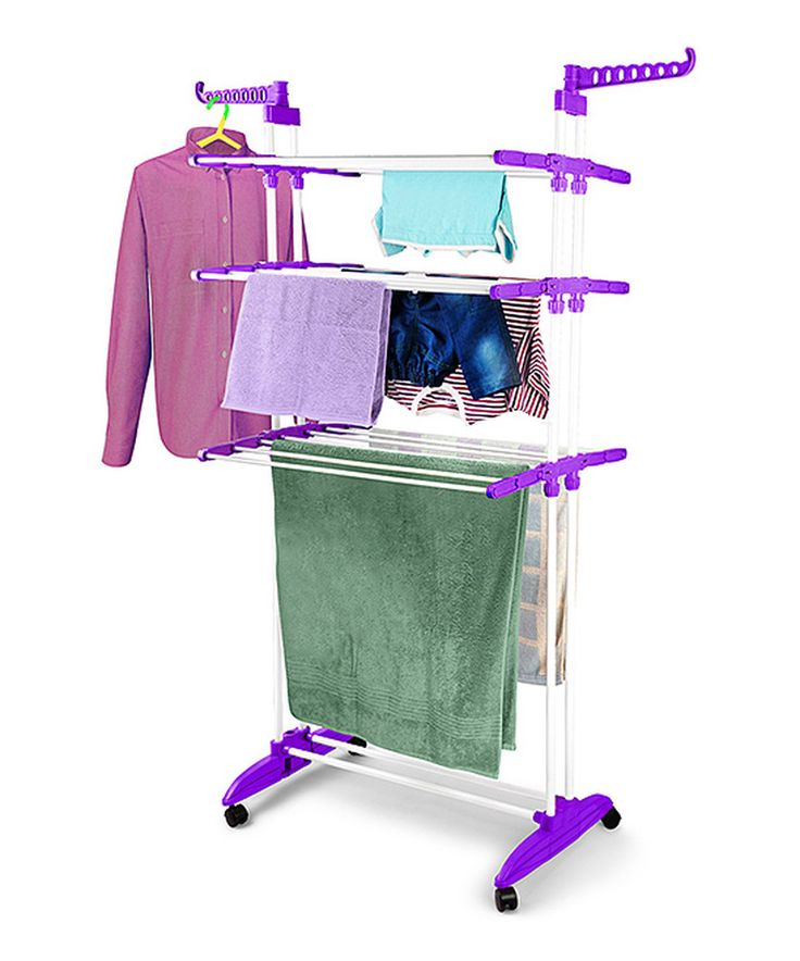 Love this Rich Plum Multifunction Clothes Drying Stand by Bonita on #zulily! #zulilyfinds