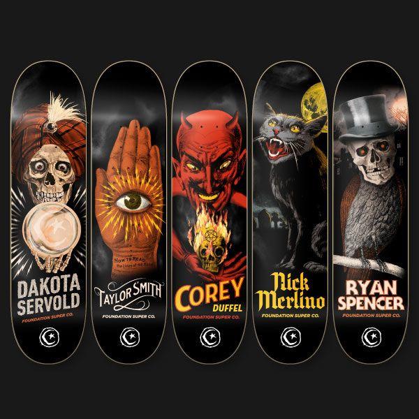Poison Graphic Design's Foundation Skateboards Horror Series on Behance