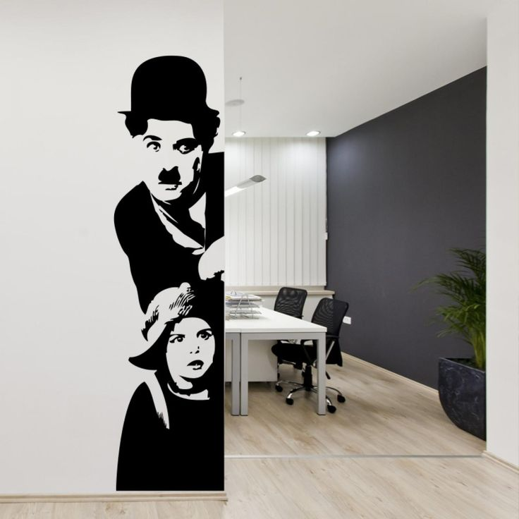 Stunning vinyl wall sticker with charlie chaplin - Give a touch of creativity to your home with the wall stickers