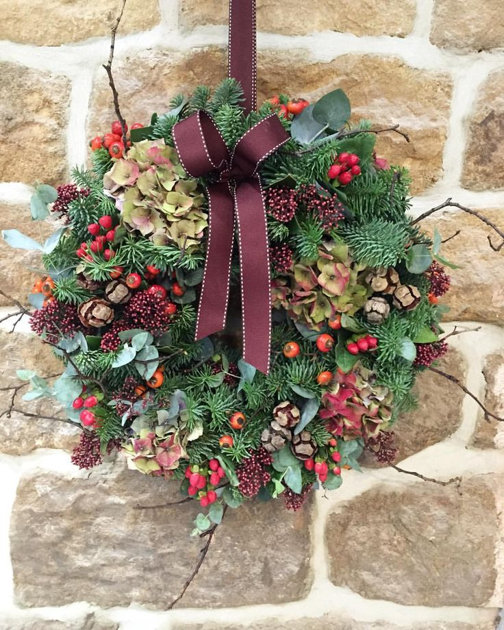 We Have A Lovely Range Of Handmade Luxury Door Wreaths In Stock Now. You Can