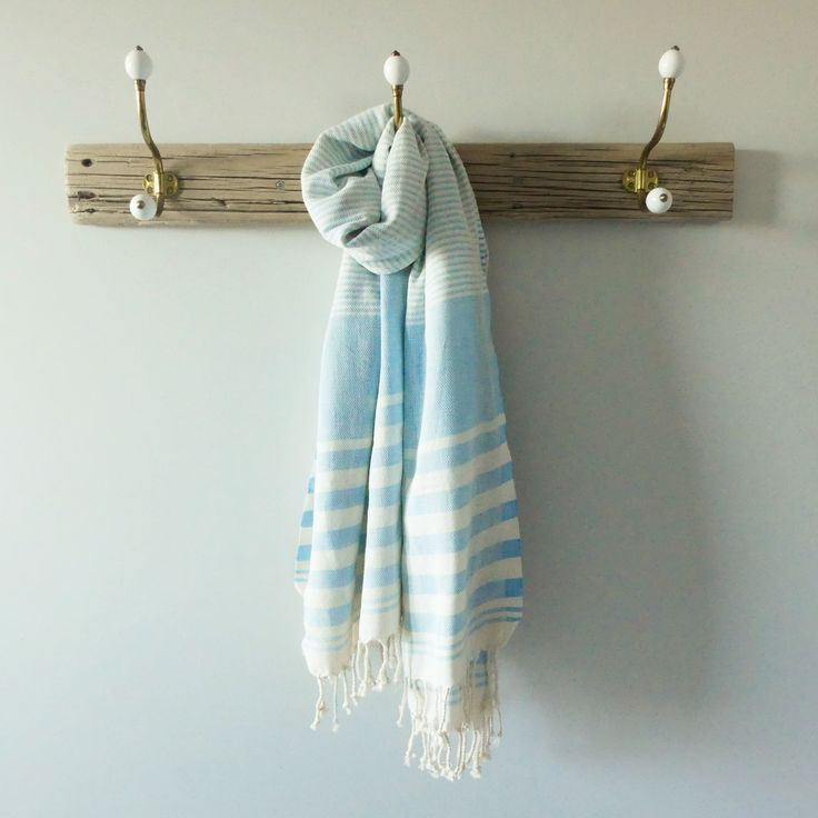 The Biarritz Turkish Towel is super absorbent, soft and extremely versatile with subtle colour woven through an ecru base.  As well as looking stunning in a bathroom, they are perfect for the beach as their flat weave doesn't hold sand and being lightweight they are very easily packed.   They can also be used as a wrap, throw, picnic rug or table cloth and they would make a beautiful and useful gift.