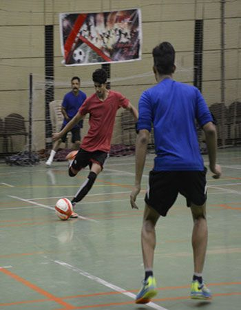 Glimpse of football match by Rush Fitness Members