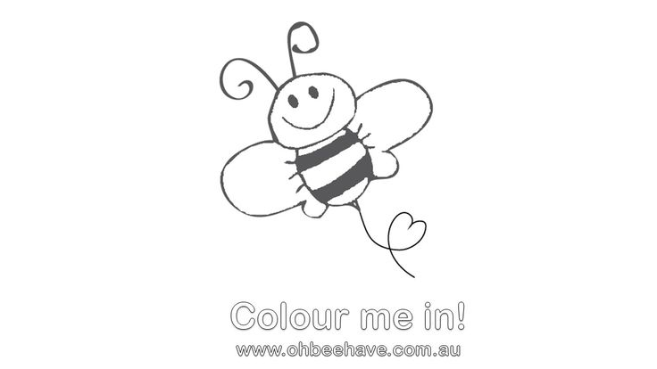 Printable bee for colouring in