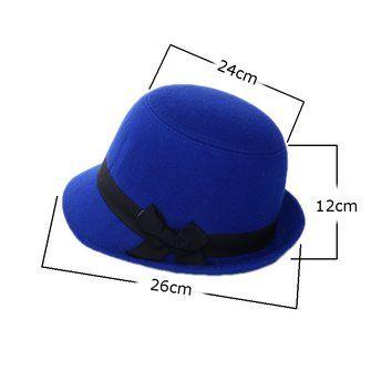 Women Wool Imtiation Fedora Trilby Cloche Cap Bow Felt Wide Brim Bowler Bucket Hat at Banggood