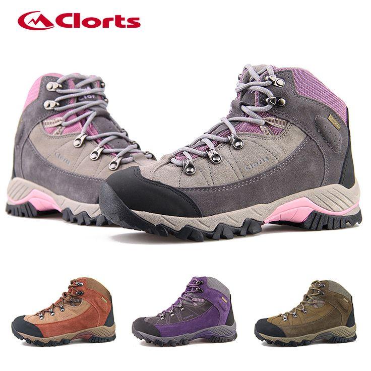 2016 Clorts Женщины Походная Обувь 3B010A Водонепроницаемый Походные Ботинки Дышащие нескользящей Открытый Скальные Туфли для Женщин