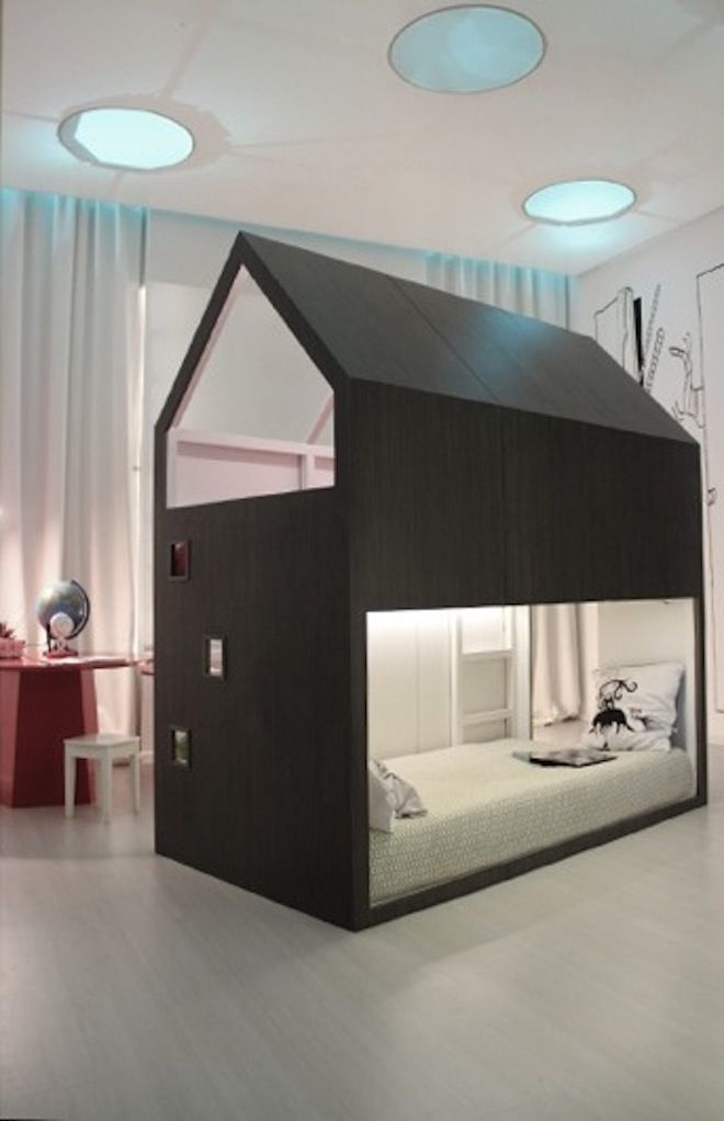 kinderbed huisje kids pinterest beautiful house and look at. Black Bedroom Furniture Sets. Home Design Ideas