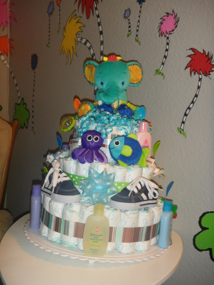 Animal Diaper Cake
