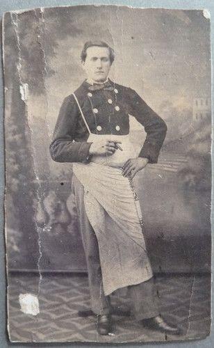 Photo CDV PAR Chambefort Roanne Homme Tenue DE Travail Ouvrier Vers 1860 70   eBay