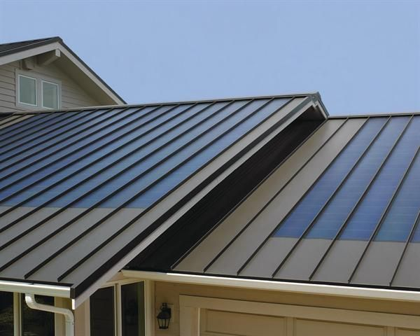 Finally, integrated solar panels that blend in to the lines of the roof.