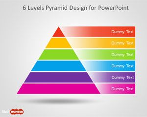 Free 6 Level Pyramid Template for PowerPoint is a segmented diagram design that you can download to represent business concepts and models in presentations