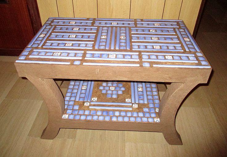 Tavolo basso da salotto/Tavolino di cartone riciclato/Tavolino da caffé/Tavolino basso/Tavolo ecodesign/Tavolino riciclo FioreLunaEcoDecò di FioreLunaEcoDeco su Etsy