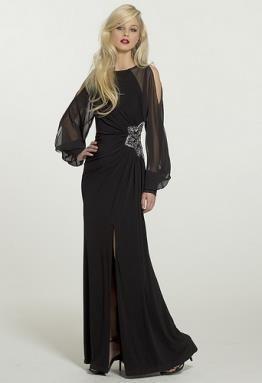Платье с длинными рукавами фото