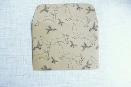 lovelyenvelopes - envelope with hand drawn illustration: hungry squirrel